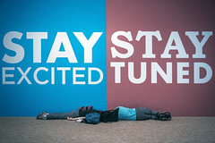 Stay Excited / Stay Tuned (WhiteWith0ne) Tags: travel sign airport asia banner terminal tired malaysia kualalumpur transfer fatigue jetlag sepang selangor departureh
