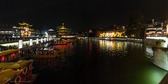 Qinhuai river at night -  (Jordi Pay Canals) Tags: china lake water night canon river asian temple eos is canals confucius usm  oriental jordi nanjing efs jiangsu     qinhuai 450d 1585mm pay
