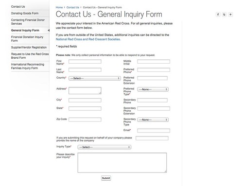 Red Cross Website 3 General Inquiry Form - a photo on Flickriver