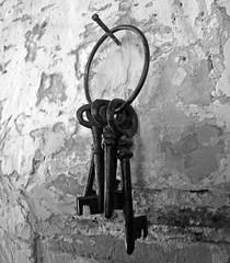 Highfield keys (PhillMono) Tags: white house black heritage history home monochrome keys estate empty australia olympus gone tasmania dslr e30 highfield