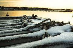 Winter Vstervik (Henrik Olof Nystrm) Tags: winter sun snow ice water sunshine sunrise pier sweden sunny ropes vstervik