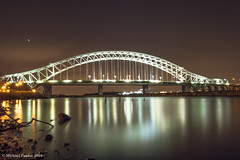 run109 (mickyfooj) Tags: longexposure water night canal cheshire runcorn halton runcornbridge silverjubileebridge