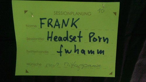 "Sessionkarte ""Headset Porn"" @fwhamm"