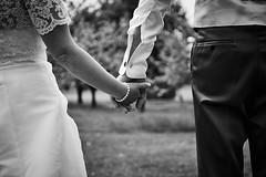 Hand in hand (CHCaptures) Tags: wedding blackandwhite love monochrome groom bride couple bokeh paar marriage hochzeit liebe braut brutigam schwarzweis