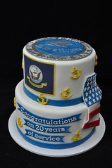 Navy retirement cake (jennywenny) Tags: cake military navy retirement