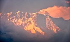 Everest at sunset from Tengboche, Nepal (CamelKW) Tags: mountain trekking everest himalayas mountainpeaks everestregion