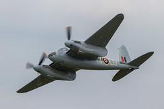 RAF D.H.98 Mosquito FB.26 KA114/N114KA 'EG-Y' (Hugh Dodson) Tags: saturday ypsilanti raf egy willowrun dh98 ka114 n114ka mosquitofb26 thunderovermichigan2015