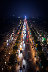 The Road to the Wheel (Origin_AL) Tags: people paris france colour cars monument night buildings reflections lights evening europe placedelaconcorde 50mm18 champslyses placecharlesdegaulle d610 rouedeparis