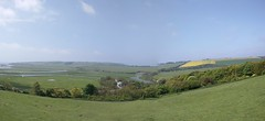 Cuckmere Haven Panorama (Henry Hemming) Tags: park haven way downs sussex head south national eastbourne seaford beachy cuckmere