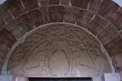 Romsley, Worcestershire, St. Kenelm's church, south entry, detail (groenling) Tags: uk greatbritain england stone angel dragon christ britain jesus stonecarving carving porch gb worcestershire entry majesty braid worcs tympanum mandorla romsley southdoor stkenelmschurch