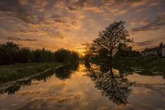 reflections (alastairgraham19) Tags: sunset england sky water clouds reflections landscape canal sony yorkshire
