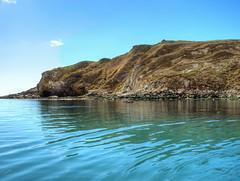 The still waters of Lulworth Cove (Digidoc2) Tags: blue sea sky water beautiful rocks calm land serene ripples tranquil lulworthcove jurassiccoast