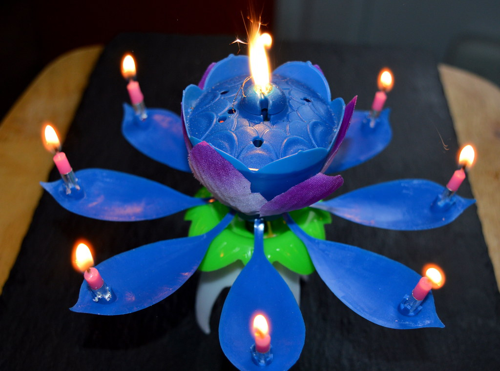 Super Candle Cake Topper Tony Worrall Tags Blue Music Color Colour Rose