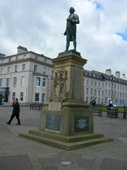 Whitby, North Yorkshire, Captain Cook monument (rossendale2016) Tags: sea monument high harbour yorkshire hill north cook cliffs whitby captain overlooking position