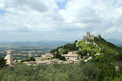 Assisi-Italy (schellenberg_rick) Tags: italy castle clouds europe assisi umbria
