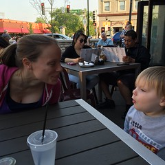 "Mommy and Paul at Jimmy's in Downtown Naperville • <a style=""font-size:0.8em;"" href=""http://www.flickr.com/photos/109120354@N07/27157635371/"" target=""_blank"">View on Flickr</a>"
