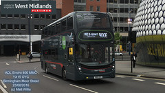 NATIONAL EXPRESS WEST MIDLANDS PLATINUM ADL ENVIRO 400 MMC YX15 OYC BIRMINGHAM MOOR STREET 23062016 (MATT WILLIS VIDEO PRODUCTIONS) Tags: street west birmingham national 400 express moor mmc platinum midlands enviro adl oyc yx15 23062016