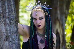 _MG_7138 (Deadly Darling DP) Tags: trees woman dreadlocks dark model woods gothic goth bellydancer jewelry dancer crown bracelets bangles