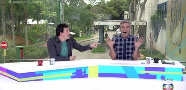 """""""Vamos fazer o teste de DNA do Ratinho"""", diz Otaviano Costa no """"Vídeo Show"""""""