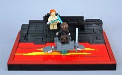 Duel on mustafar (4) (adde51) Tags: star lava starwars lego duel obi anakin wars wan vignette legostarwars skywalker kenobi moc mustafar vig adde51