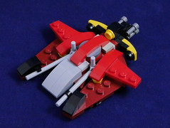 Space-Hoser! (phayze81) Tags: lego moc space scifi sciencefiction microscale microspace emergencyvehicle starfighter firetruck