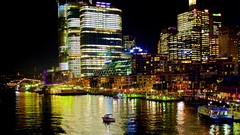 Barangaroo, Darling Harbour (Andy Burton Oz) Tags: nightphotography building boat sydney australia nsw highrise newsouthwales darlingharbour sydneyharbour afterdark builtenvironment 2016 tumbalong mutistorey afsdxvrzoomnikkor1855mmf3556g aperture36 nikond7100