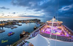 Sunset colors in Bermuda (Kostas Trovas) Tags: blue sky reflection art colors beautiful night clouds composition canon landscape fun lights flickr ship awesome cruiseship bermuda hdr highiso 6d kingswharf 500px ef1740f4 instagram kostasimages sunsetlr6