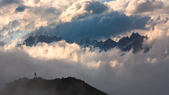 Picos de Europa (haelio) Tags: man scale clouds de person photography spain europa mountaineering mountians picos picosdeeuropa flong sixteenbynine cameracanon5d2
