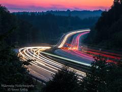 Fahr'n, fahr'n, fahr'n auf der Autobahn... (Ronny Rthig) Tags: cars exposure saxony autobahn sachsen autos a4 gemany langzeitbelichtung longtime rammenau
