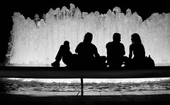 Fountain (JeffreyNotJeff) Tags: nyc newyork water fountain silhouette couple theater theatre lincolncenter