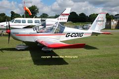 G-CDIG Aerotechnik EV-97 Eurostar (SPRedSteve) Tags: gcdig ev97 eurostar shobdon