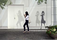 Shadowing (DepictingPhotos) Tags: tokyo street shadows