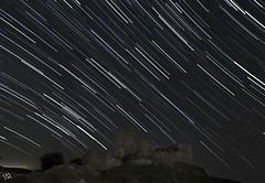 Ecuador celeste. (:) vicky) Tags: ecuadorceleste largaexposicion nocturna night noche navidad espaa esolympus estrellas castillo aragn flickrvicky flickr