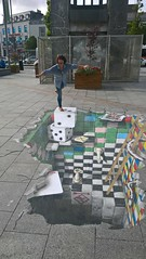 3D Street Art (mcginley2012) Tags: 3d street streetart opticalillusion illusion games dice cards monopoly galway ireland trompelil pavement