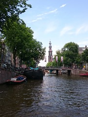 Westertoren Amsterdam (:-) LR) Tags: bridge amsterdam canal thenetherlands noordholland gracht westertoren rozengracht westerkerk