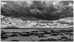 Clouds on a Sunday Afternoon 2 (chris.willis3) Tags: sky panorama water clouds afternoon ships pebbles shore stitched queenmary2 hamble fawley nikond5200 chriswillis3