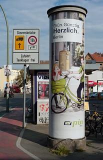 Litfaßsäule Berlin Werbung 2016