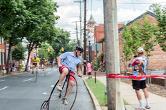 Highwheel Race (8-13-16)-196 (nickatkins) Tags: bike bikes biker bikers bikerace bikeraces bikeracing cycling cyclist race bicycle bicycling bicyclist highwheel old oldtime frederick historic