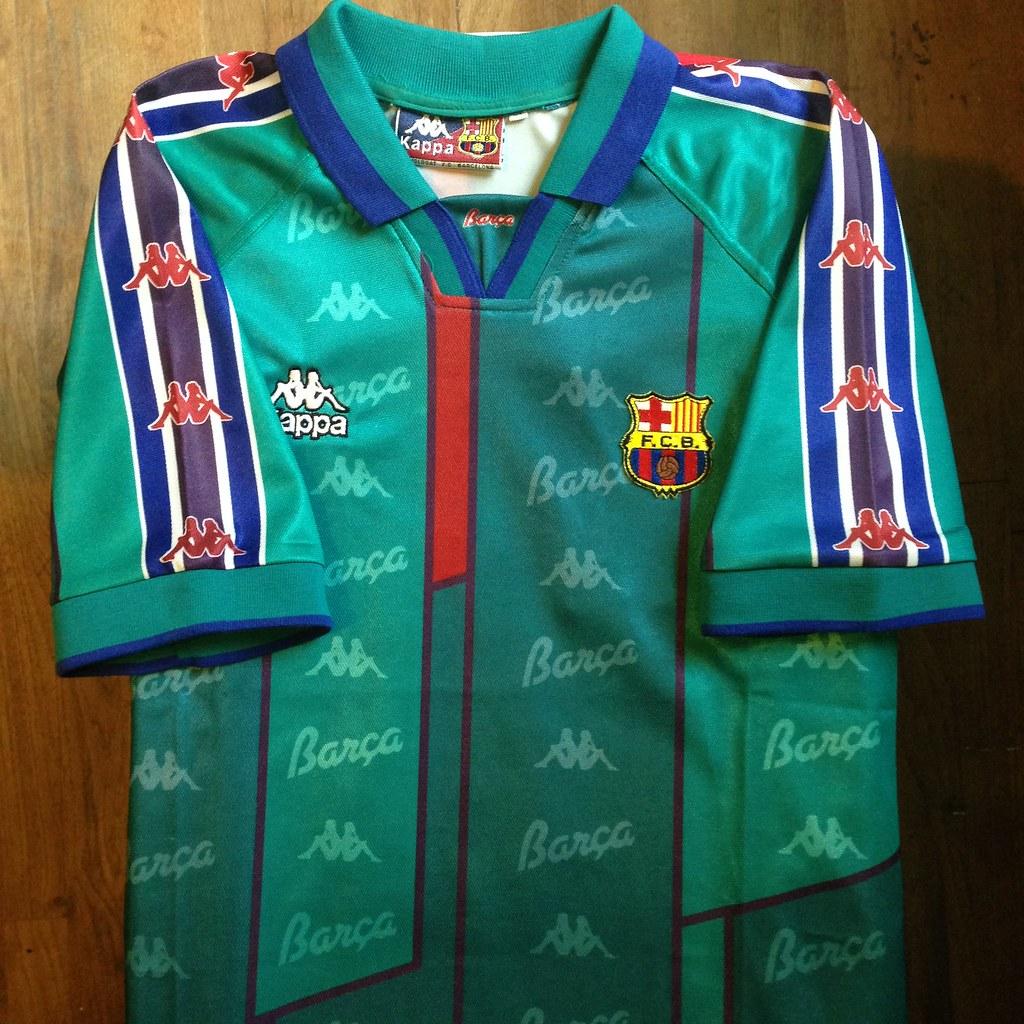 1413d586c57 1995-1997 FC Barcelona Away Jersey (Canapial) Tags  barcelona sport shirt  football