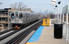 Green Line at 51st Street (Cragin Spring) Tags: city urban chicago train subway illinois midwest cta unitedstates unitedstatesofamerica chitown rail el il transportation transit commute l southside elevated greenline chicagoillinois chicagotransitauthority bronzeville windycity chicagosubway 51ststreet