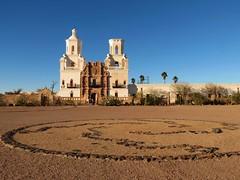 White Dove of the Desert (rimlli) Tags: arizona white del san desert tucson dove mission xavier bac sanxavierdelbacmission whitedoveofthedesert arizonapassages