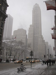 Snowy Manhattan (Alexanyan) Tags: new york city winter usa snow ny downtown snowy manhattan united center states