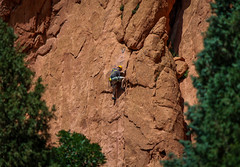 Rock Climbing (jhoff1257) Tags: mountains west nature colorado mountainclimbing gardenofthegods climbing coloradosprings rockclimbing rockformations
