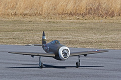 RDRC Flying - P-47 Take-Off (John. Romero) Tags: radio plane canon airplane photography fly flying photo airport durham control aircraft aviation air flight raleigh hobby planes remote tamron runway rc flyin rdrc