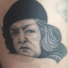 Mama Fratelli Goonies Tattoo Portrait by Wes Fortier - Burning Hearts Tattoo Co. Waterbury, CT