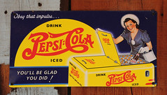 Pesi Cola sign (D70) Tags: old red arizona usa sign yellow bottle cola drink iced apachetrail tortillaflat pesi