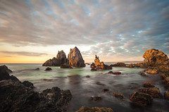 Camel Rock Dawn (laurie.g.w) Tags: longexposure seascape beach rock sunrise dawn bay coast south shoreline rocky camel nsw coastline foreshore sapphire bermagui tokina17mmrmc35