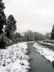 Osterode - Wintereinbruch an der Sse (ohaoha) Tags: schnee winter germany deutschland wasser europa europe alemania fluss niedersachsen osterode sse lowesaxony