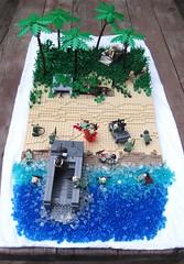 Tarawa November 1943 (tyfighter07) Tags: beach lego pacific wwii landing jungle invasion 1943 tarawa moc brickbuilder7