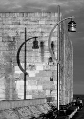 Light & Shadow (nigethorpe) Tags: shadow bw solent portsmouth southsea harbourwall